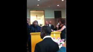 "Whitney Houston sings ""Never Would Have Made It"" with Johnny Gill @ Bobby Brown's Mother's Funeral"