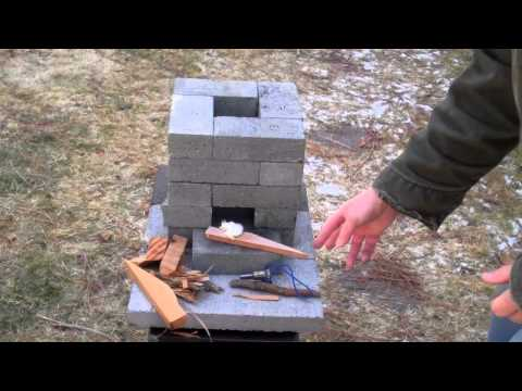 stove - During an emergency, the ability to purify water could be critical. This improved brick rocket stove could be built for about $10, if you have to buy the mat...