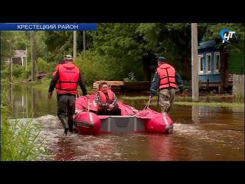 В Крестецком районе остаются подтопленными 84 подворья