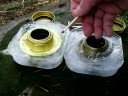 Alcohol stoves in ice