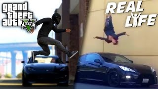 Video GTA 5 VS REAL LIFE 10 ! (fun, fail, stunt, ...) MP3, 3GP, MP4, WEBM, AVI, FLV September 2019