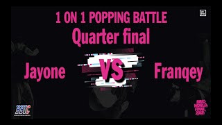 J.One vs Franqey – BBIC KOREA WORLD FINALS 2019 Popping Best 8