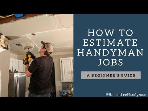 How To Estimate Handyman Jobs