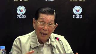 Enrile addresses questions regarding health