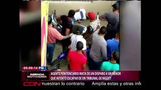 Agente penitenciario mata de un disparo a un menor que intentó escapar de un tribunal de Higüey
