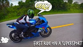 Video Girl Rides a GSXR Sport Bike For The First Time! MP3, 3GP, MP4, WEBM, AVI, FLV Juli 2019