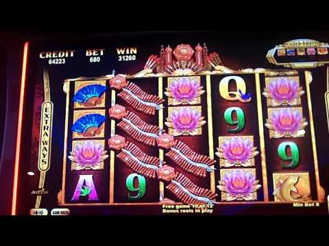 Aristocrat Golden Princess Slot Machine Bonus Win. Max Bet  # 8 Huge Win!
