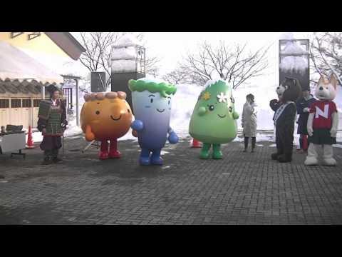 秋田県南各地のご当地キャラクター達が、道の駅なかせんに大集合 …