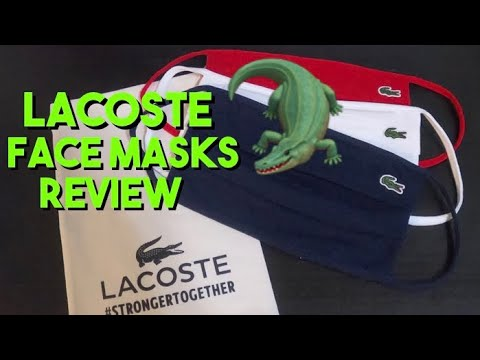 LACOSTE FACE MASKS UNBOXING AND REVIEW