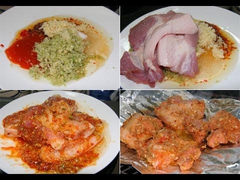 Công thức chuẩn cho cách làm thịt heo nướng sa tế