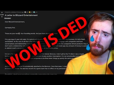 Asmongold Reacts To MOST Upvoted Reddit WOW Post - Almost Cries