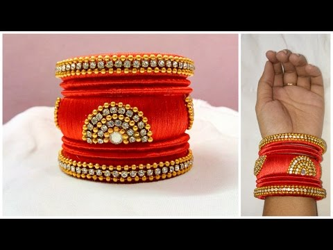 Video Latest silk thread bangle making at home I Easy and Simple bangles I Creative Diaries download in MP3, 3GP, MP4, WEBM, AVI, FLV January 2017