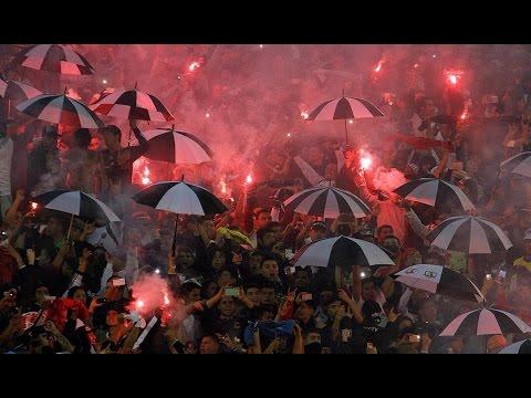 Salida Garra Blanca / Colo Colo vs Indep del Valle / Copa Libertadores 2016 / 14-04-16 - Garra Blanca - Colo-Colo
