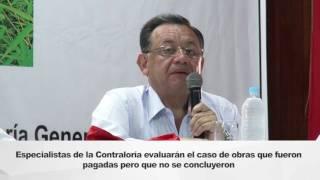 Contralor General Edgar Alarcón anuncia auditoría integral a la Municipalidad Provincial de Maynas