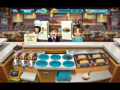 Cooking Fever - New Sunset Waffles Restaurant Kitchen Upgraded GamePlay