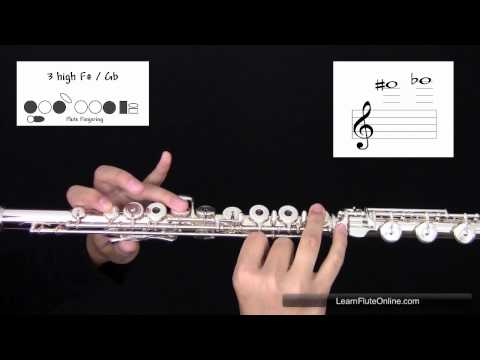 How To Play The Note F sharp or G flat F#/Gb on the Flute: Learn Flute Online
