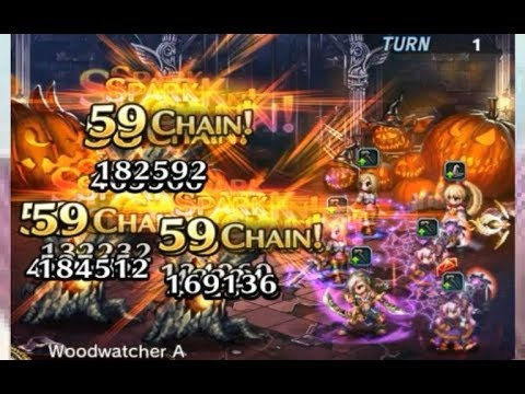[FFBE] 2 Grim Lord Sakura And 2 Ashe Do 59 Chain Perfect!! Best Mages!!!