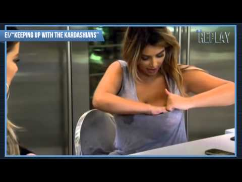 صدر - On the upcoming episode of Keeping Up with the Kardashians, new mom Kim leaked breast milk while chatting with siblings Khloé and Rob, causing an uncomfortab...