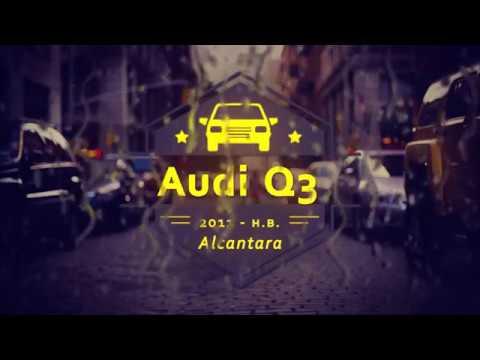 """Чехлы на Audi Q3, серии """"Alcantara"""" с ромбами - красная строчка"""