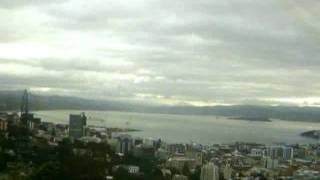 Wellington, NZ - Timelapse of Thursday the 12th of January 2012