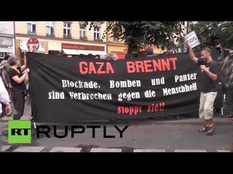 'Stop Massacre in Gaza': Germans protest Israeli attacks
