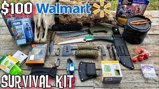 $100 Walmart Survival Kit - 7 Day Survival Challenge - Ultralight Bugout Bag