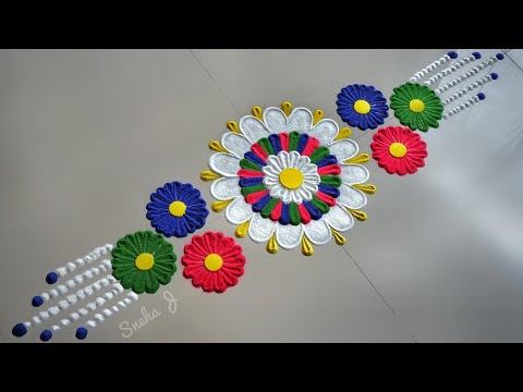 Super Easy and Quick Rakhi Rangoli Designs| Rakshabandhan Rangoli