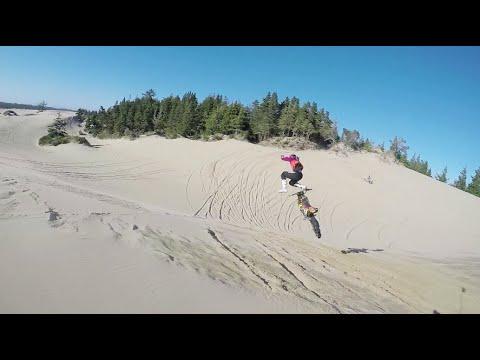 Legendary dune riding on dirt bikes. Oregon dunes.