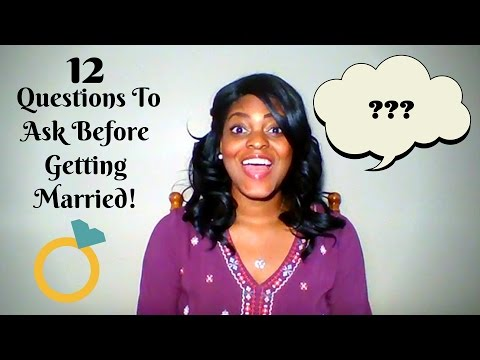 12 Questions To Ask Before Getting Married | Dating & Marriage Relationship Series