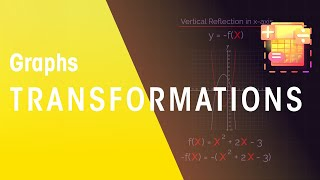 Functions of graphs can be shifted and reflected. In this 2 part video we will look at horizontal and vertical, reflections and translations. Translations shift the functions. For vertical transformations, the transformation is applied to the whole function. Vertical translations shift the whole function up or down, and vertical reflections reflect the function in the x-axis. To reflect a function vertically, multiply the whole function by a negative. For horizontal transformations, the transformation is added directly to the x's in the function equation, and only to the x's. Horizontal translations shift the function left and right. Positive numbers shift the curve to the left, and negative numbers shift the graph to the right. For horizontal reflections, the function is reflected in the y-axis.SUBSCRIBE to the FuseSchool YouTube channel for many more educational videos. Our teachers and animators come together to make fun & easy-to-understand videos in Chemistry, Biology, Physics, Maths & ICT.VISIT us at www.fuseschool.org, where all of our videos are carefully organised into topics and specific orders, and to see what else we have on offer. Comment, like and share with other learners. You can both ask and answer questions, and teachers will get back to you.These videos can be used in a flipped classroom model or as a revision aid. Find all of our Chemistry videos here:https://www.youtube.com/watch?v=cRnpKjHpFyg&list=PLW0gavSzhMlReKGMVfUt6YuNQsO0bqSMV Find all of our Biology videos here: https://www.youtube.com/watch?v=tjkHzEVcyrE&list=PLW0gavSzhMlQYSpKryVcEr3ERup5SxHl0 Find all of our Maths videos here:https://www.youtube.com/watch?v=hJq_cdz_L00&list=PLW0gavSzhMlTyWKCgW1616v3fIywogoZQ Twitter: https://twitter.com/fuseSchoolAccess a deeper Learning Experience in the FuseSchool platform and app: www.fuseschool.orgFollow us: http://www.youtube.com/fuseschoolFriend us: http://www.facebook.com/fuseschoolThis Open Educational Resource is free of charge, under a Creative Commons License: Attribution-NonCommercial CC BY-NC ( View License Deed: http://creativecommons.org/licenses/by-nc/4.0/ ).  You are allowed to download the video for nonprofit, educational use. If you would like to modify the video, please contact us: info@fuseschool.org