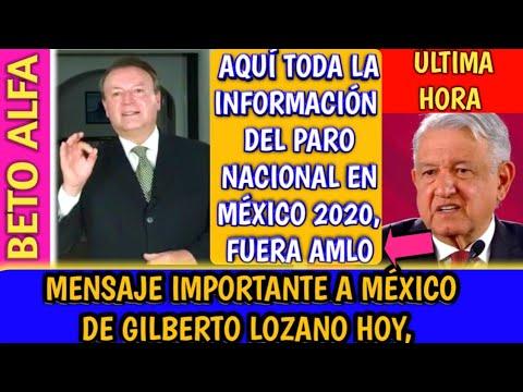 MENSAJE IMPORTANTE PARA MÉXICO PARO NACIONAL 2020 | GILBERTO LOZANO ft. BETO ALFA NOTICIAS