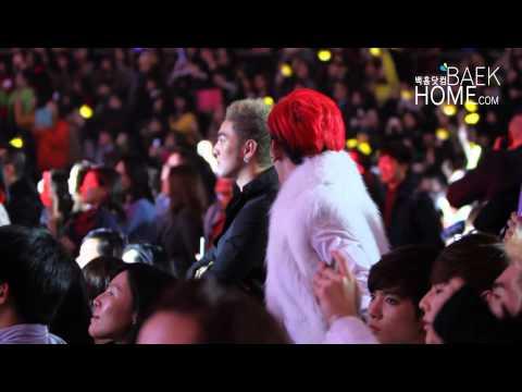 [BAEKHOME]131120 TUDOU Yong Choice Awards NU'EST-M 선배 무대를 보면서 신난 뉴이스트 엠 (видео)