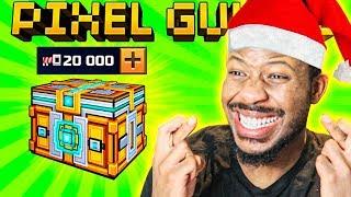 I SPENT 20,000 KEYS on NEW YEARS SUPER CHEST! l Pixel Gun 3D