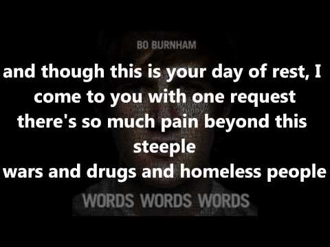 Bo Burnham - Rant With Lyrics