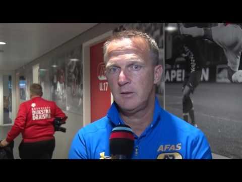 Reactie Van den Brom na AZ - SC Cambuur