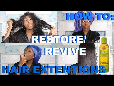 HOW TO: RESTORE/REVIVE YOUR HAIR EXTENSIONS | NICOLETHEATV
