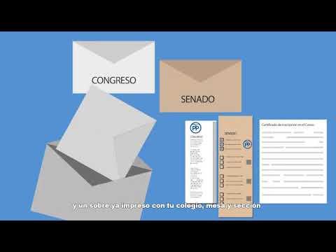 Voto por correo para las elecciones generales de 2019