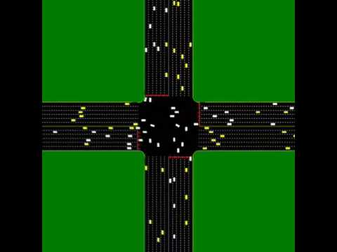 Autonomous Intersection Management - FCFS policy with 6 lanes in all directions