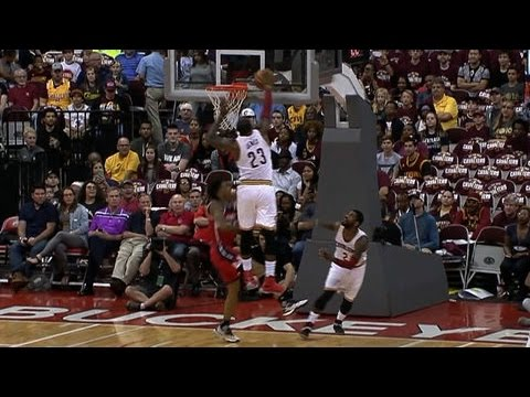 LeBron James with the Chasedown Block on Oubre Jr!