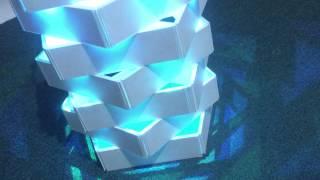 "Contoh DIY casing yang dibuat dari kardus atau foamboard untuk memanfaatkan Bluetooth Rainbow Lamp KitAplikasi ""Bluetooth Rainbow Lamp"" dapat di download di Google Store. Arduino Source code available at our website (www.geraicerdas.com)"