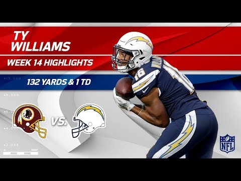 Video: Tyrell Williams' 132 Receiving Yards & 1 TD! | Redskins vs. Chargers | Wk 14 Player Highlights