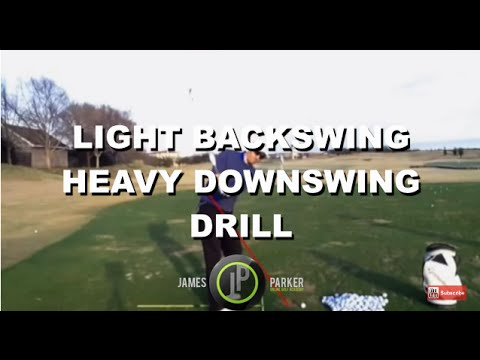Golf Lessons & Drills | Light Backswing/Heavy Downswing | Figure of 8 Drill