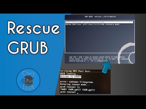 GRUB Rescue   Repairing GRUB