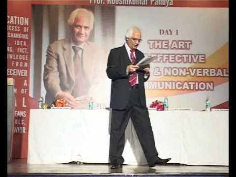 Verbal & Non-Verbal Communication (part 01) by Prof. Rooshikumar Pandya