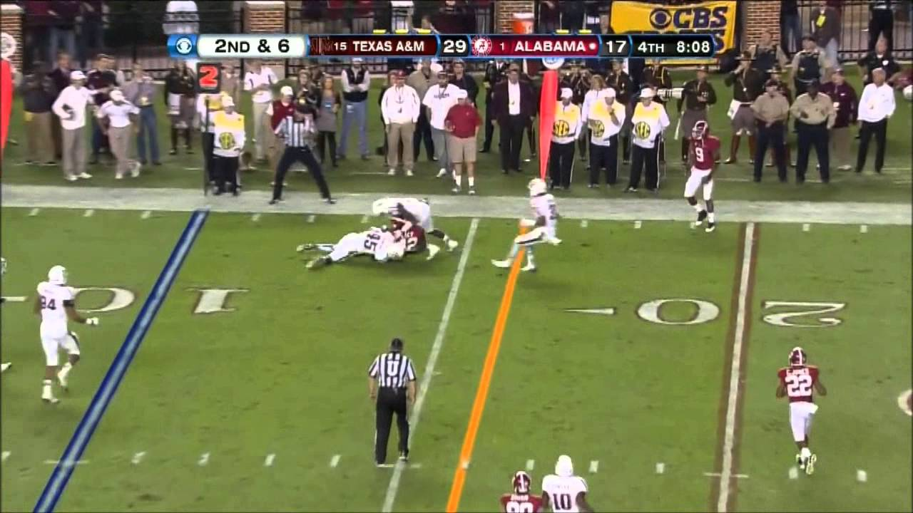 AJ McCarron vs Texas A&M (2012)