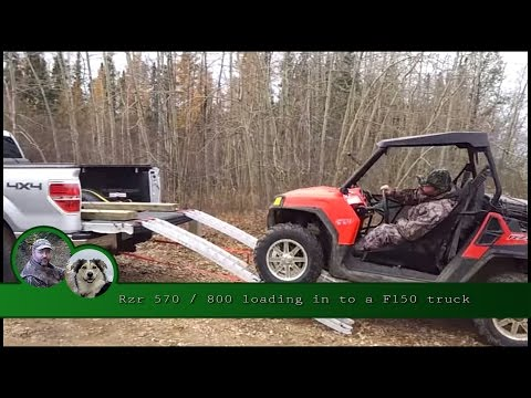 Rzr 570 / 800 loading in to a F150 truck