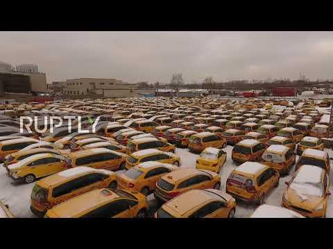 В Москве нашли и сняли на видео кладбище такси