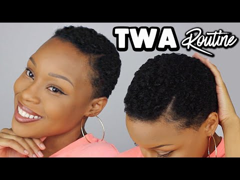 Short hair styles - Styling My 4C TWA/Short Natural Hair  QUICK & EASY Routine