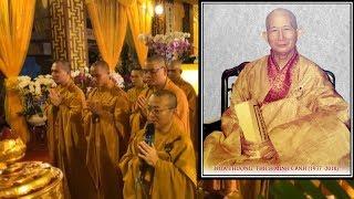 Tăng đoàn và Phật tử chùa Giác Ngộ đảnh lễ Giác linh HT. Thích Minh Cảnh (1937-2018)