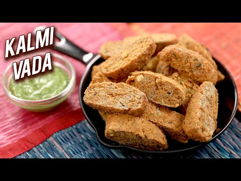 Kalmi Vada | Rajasthani Snacks Recipe | Quick & Easy Teatime Snacks | Split Bengal Gram Vada | Ruchi